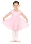 eurotard 33912 daisy mae child tactel cap sleeve leotard with soft mesh and chiffon attached skirt and cascading daisy detail