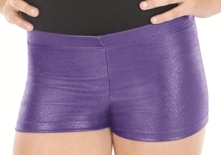 eurotard 24535c child metallic denim booty shorts