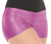 eurotard 24535 adult metallic denim booty shorts