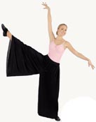 eurotard 13696 palazzo pants with elastic waist