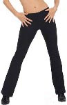 Eurotard 46755 Adult Cotton / Lycra Low Rise Jazz Pants