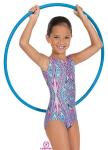 Eurotard 2389 Child Metallic Kaleidoscope Print Gymnastics Tank Leotard