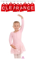 Eurotard 01465 Child Long Sleeve Leotard w/ Attached Skirt