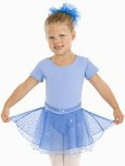 Eurotard 02467 Sparkle Child Short Sleeve Leotard with Belt Detail and Sequined Tulle Skirt