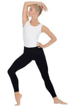 Eurotard 34944 Microfiber Seamless Ankle Leggings / Tights with Wide Comfort Waistband