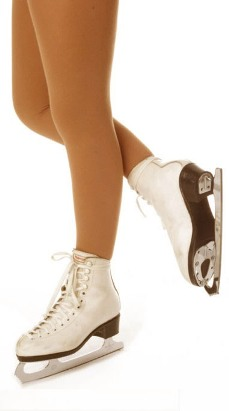 Mondor 3395 Naturals Footed Opaque Skating Tights