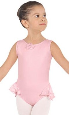 Eurotard 0103 Princess Rose Child Tank Leotard with Attached Skirt