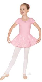 eurotard 01467 princess rose child short sleeve leotard with double layer chiffon skirt