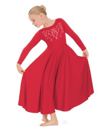 eurotard 11024c child reigning cross praise dress