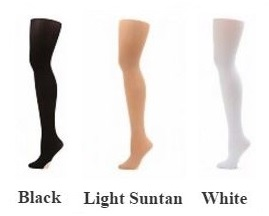 capezio n1862 hold & stretch plus footed tights color swatch