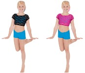 eurotard 45876c child lace crop top color swatch