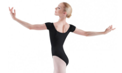 bloch 5402t tall basic short sleeve leotard color swatch