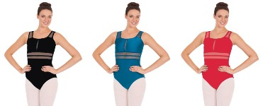 eurotard 59899 striped mesh tank leotard color swatch