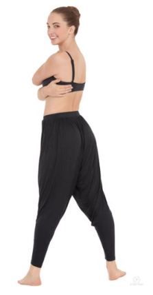 eurotard 70756 adult harem pants medium center