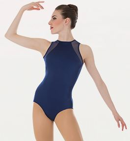 body wrappers p1006 adult power mesh slit back leotard
