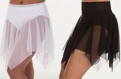 body wrappers bw9102 power mesh handkerchief hem skirt