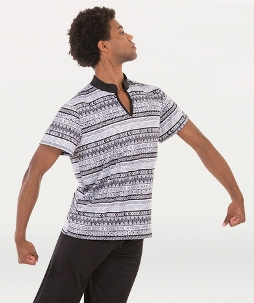 body wrappers m676 tribal simplicity short sleeve pullover