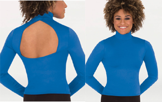 body wrappers mt224 long sleeve hi neck pullover