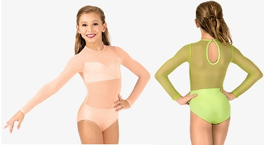 body wrappers nl100 competition leotard with power mesh body
