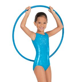 eurotard 29189 child stardust leotard medium center