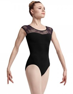 bloch l7714 hava cap sleeve leotard center