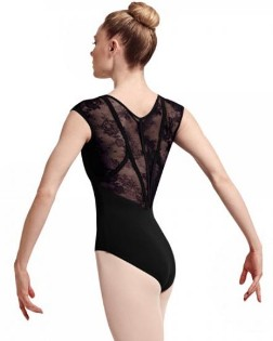 bloch l7714 hava cap sleeve leotard back