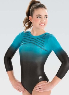 gk elite 5848st turquoise horizon competitive gymnastics leotard center