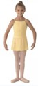 bl ms12ch girls georgette mock wrap skirt buttercup color swatch