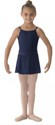 bl ms12ch girls georgette mock wrap skirt navy color swatch