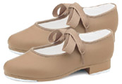 bloch dance now dn3720g girls student tap shoes tan swatch