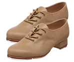 bloch s0301l ladies jazz tap shoe tan color swatch