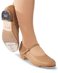 bloch so0302g girls tap shoe tan color swatch