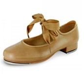 bloch s0350 girls annie tyette tap shoes bloch tan swatch