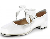 bloch s0350 girls annie tyette tap shoes white color swatch