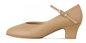 bloch s0379l ladies broadway lo character shoes tan color swatch