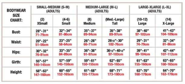 body wrappers mt201 long sleeve turtleneck leotard adult sizing chart