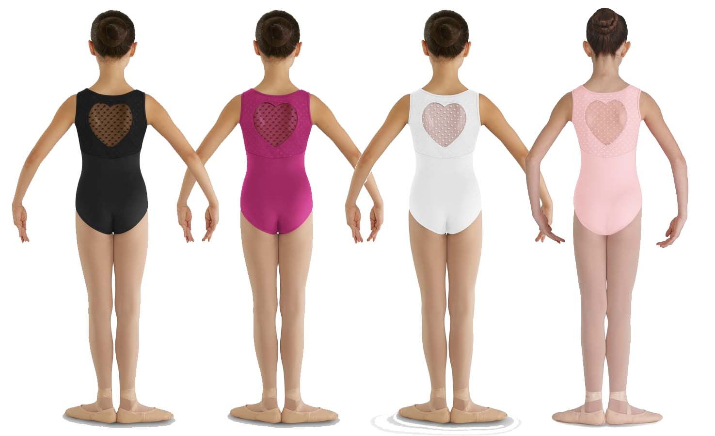 bloch cl7905 miame heart mesh back tank leotard childrens color swatch