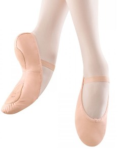 bloch s0258g girls leather split sole ballet shoe