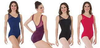 body wrappers p1001 childrens power mesh yokes leotard color swatch