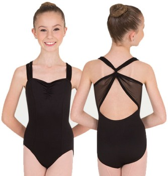 body wrappers p1013 sweetheart mesh accent leotard