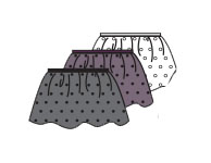 body wrappers p1041 dotted skirt color swatch