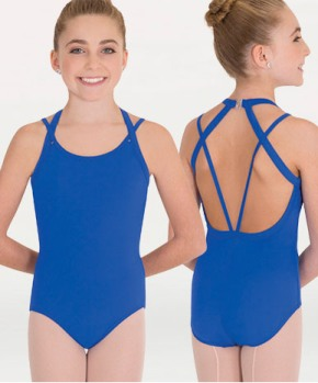 body wrappers p1073 child double strap leotard