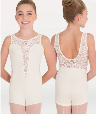 body wrappers p1100 child boy cut romantic lace leotard