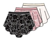 body wrappers p1104 romantic lace skirt color swatch