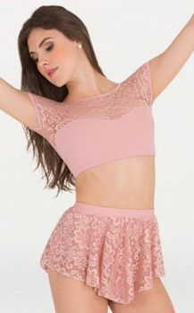 body wrappers p1104 romantic lace skirt