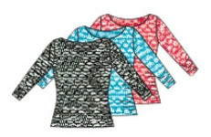 body wrappers p1113 diamond mesh three quarter sleeve pullover color swatch