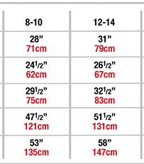 body wrappers p1114 child diamond mesh skirt sizing chart