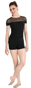 body wrappers p1206 adult tiler peck illusion short sleeve unitard