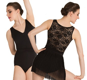 body wrappers p1080 tiler peck lace back tank leotard