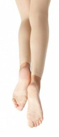 capezio n140c childrens hold and stretch footless tights front back